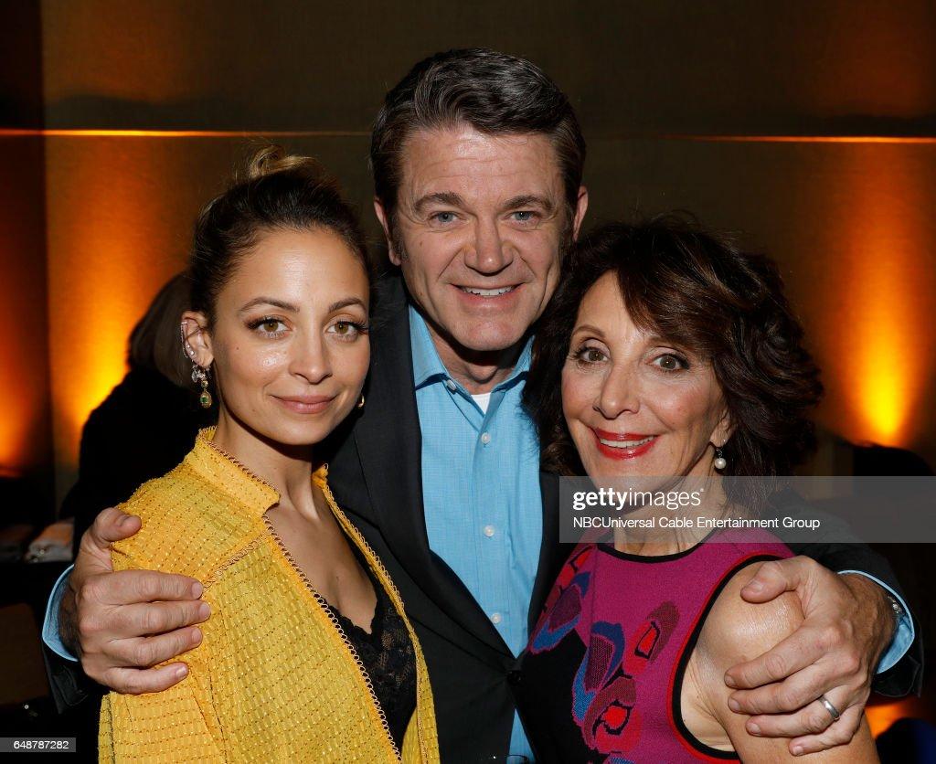 New York Midseason Press Day, March 2017 -- Pictured: (l-r) Nicole Richie, John Michael Higgins, Andrea Martin 'Great News' on NBC --