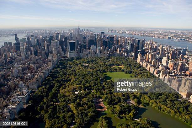 USA, New York, New York City, Central Park, aerial view