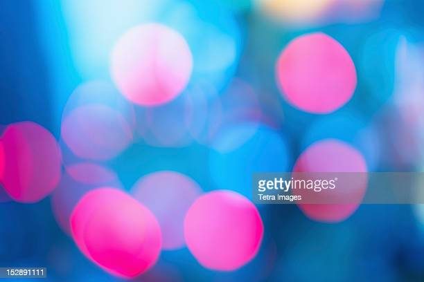 USA, New York, New York City, Colorful lights