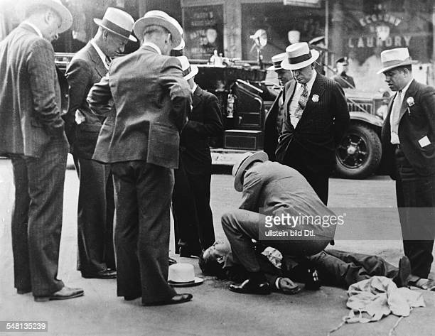 USA New York New York City Era of Prohibition An alcohol smuggler was shot dead by a member of a rivaling gang during the era of prohibition 1929...