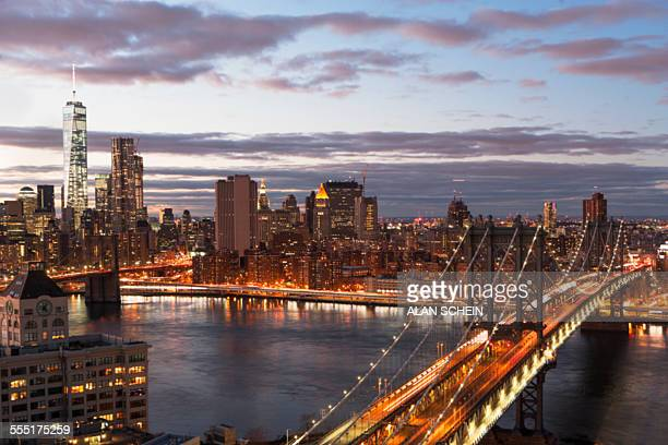 USA, New York, New York City, View of East River and cityscape