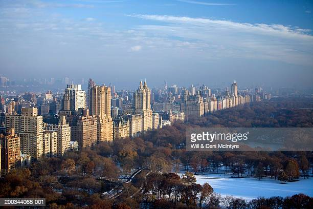 USA, New York, New York City, west side of Central Park, aerial view