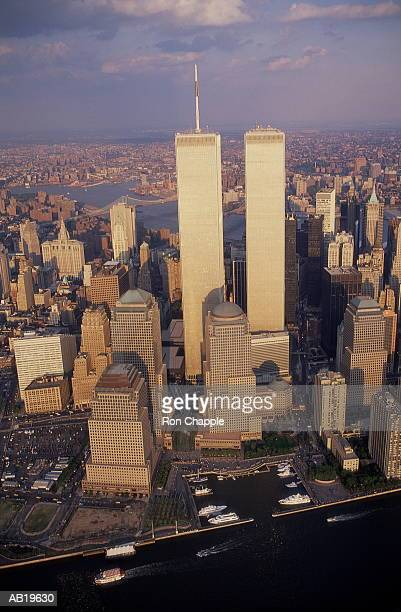USA, New York, New York City, World Trade Center, aerial view