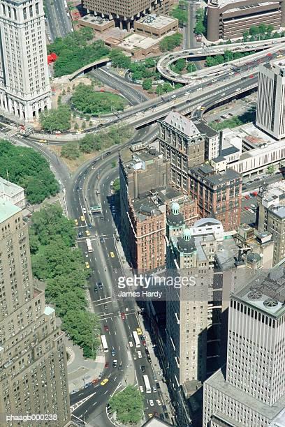 New York, New York, high angle view