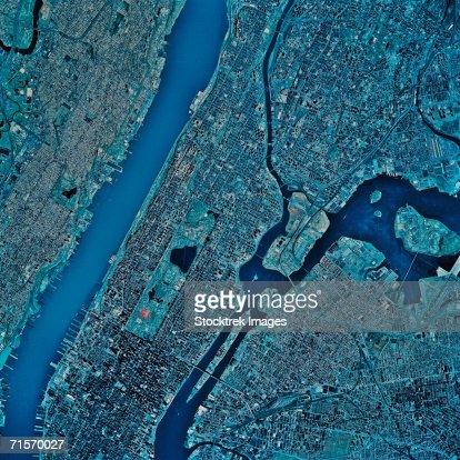 'New York, New York, satellite image'