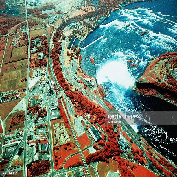 USA, New York, Niagara Falls, satellite image
