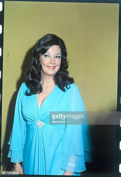 Close up of Opera Singer Anna Moffo shown as she attended the 17th annual Grammy Awards Show