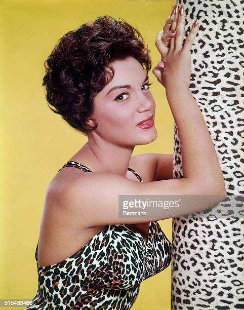 Closeups of singer actress Connie Francis