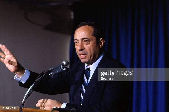 Governor of New York Mario Cuomo at a press conference He will be the keynote speaker at the Democratic Presidential Convention in San Francisco's...