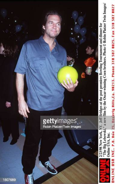 New York NY Jeff Bridges at the post premiere Bowling Tournament and dinner for 'The Big Lebowski' the new film from the Oscarwinning Coen Brothers