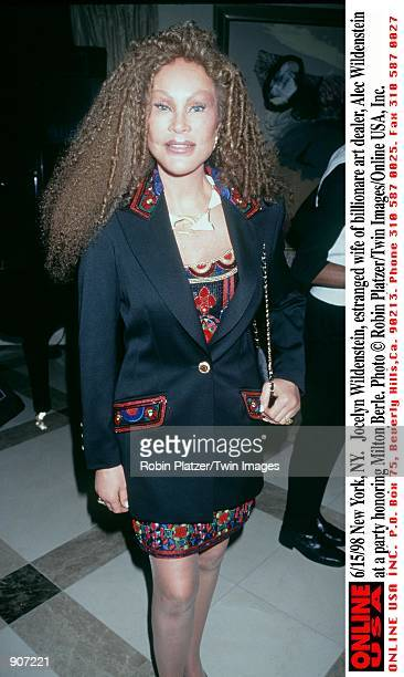 New York NY Jocelyn Wildenstein estranged wife of billionare art dealer Alec Windenstein at a party honoring Milton Berle