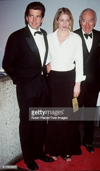 New York Ny John F Kennedy Jr With His Wife Carolyn At The Whitney Museum Fundraiser Dinner Gala 'Brite Nite Whitney'