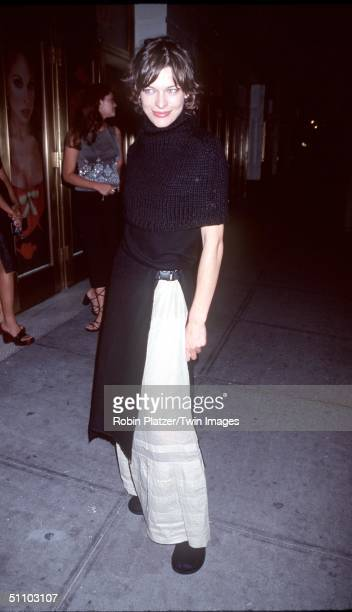 New York Ny Milla Jovovich At Float's AfterParty For Fashion Designer Vivienne Westwood's Spring/Summer 2000 'Red Label' Collection