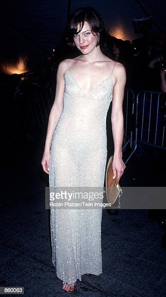 New York NY Milla Jovovich at the Metropolitan Museum of Art for the Costume Institute Gala Photo by Robin Platzer/Twin Images/Online USA Inc
