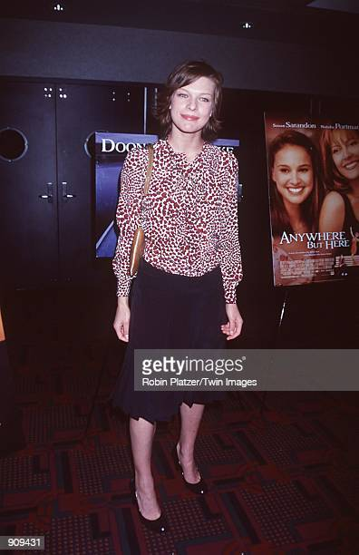 New York NY Milla Jovovich at the premiere of 'Anywhere but Here' Photo Robin Platzer/Twin Images/Online USA