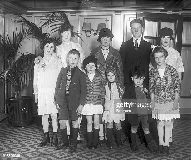 12/2/1929 New York NY Mrs Bridget Casey of County Cork Ireland with her nine children arrived in New York on the SS Berlin Dec 2nd They are enroute...