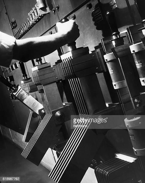 Power switches at A T T Undated photograph
