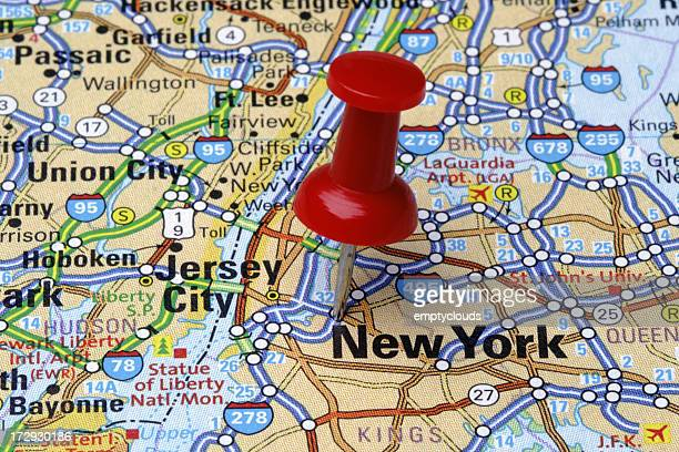 New York on a Map