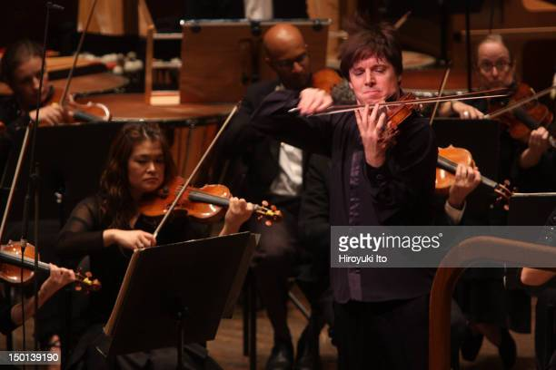 New York Philharmonic at Avery Fisher Hall on Thursday night October 7 2010This imageJoshua Bell performing Sibelius's 'Concerto for Violin and...
