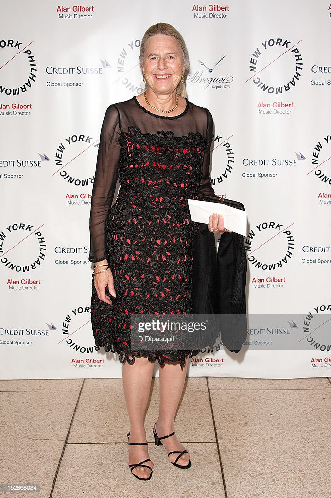 New York Philharmonic director Honey M. Kurtz attends the New York Philharmonic 171st season opening gala at Avery Fisher Hall at Lincoln Center for the Performing Arts on September 27, 2012 in New York City.