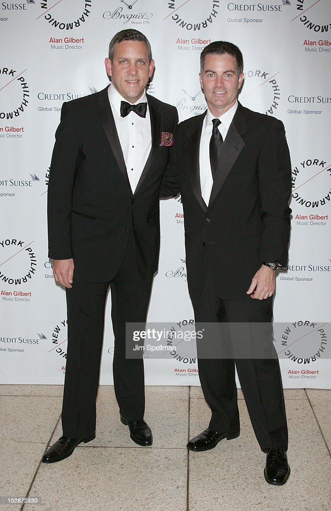 New York Philharmonic Executive Director Matthew VanBesien and Brand President, Breguet North America Michael Nelson attend the New York Philharmonic 171st Season Opening Night Gala at Avery Fisher Hall at Lincoln Center for the Performing Arts on September 27, 2012 in New York City.