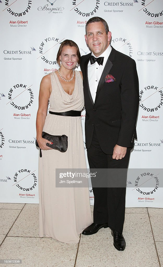 New York Philharmonic Executive Director Matthew VanBesien (R) and guest attend the New York Philharmonic 171st Season Opening Night Gala at Avery Fisher Hall at Lincoln Center for the Performing Arts on September 27, 2012 in New York City.