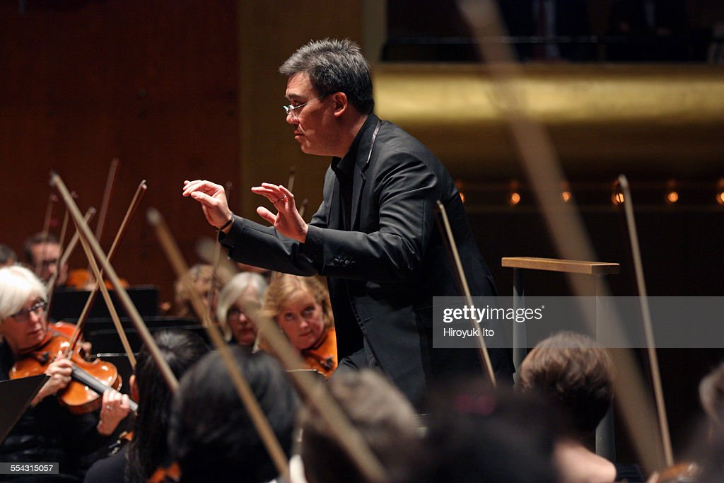 New York Philharmonic performing at Avery Fisher Hall on Friday night May 8 2015This imageAlan Gilbert leading the New York Philharmonic in...