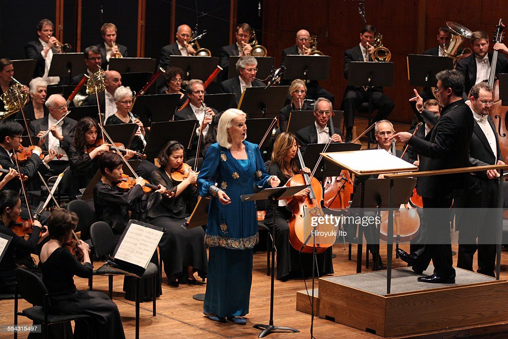 New York Philharmonic performing at Avery Fisher Hall on Friday night May 8 2015This imageThe mezzosoprano Anne Sofie von Otter and the baritone...