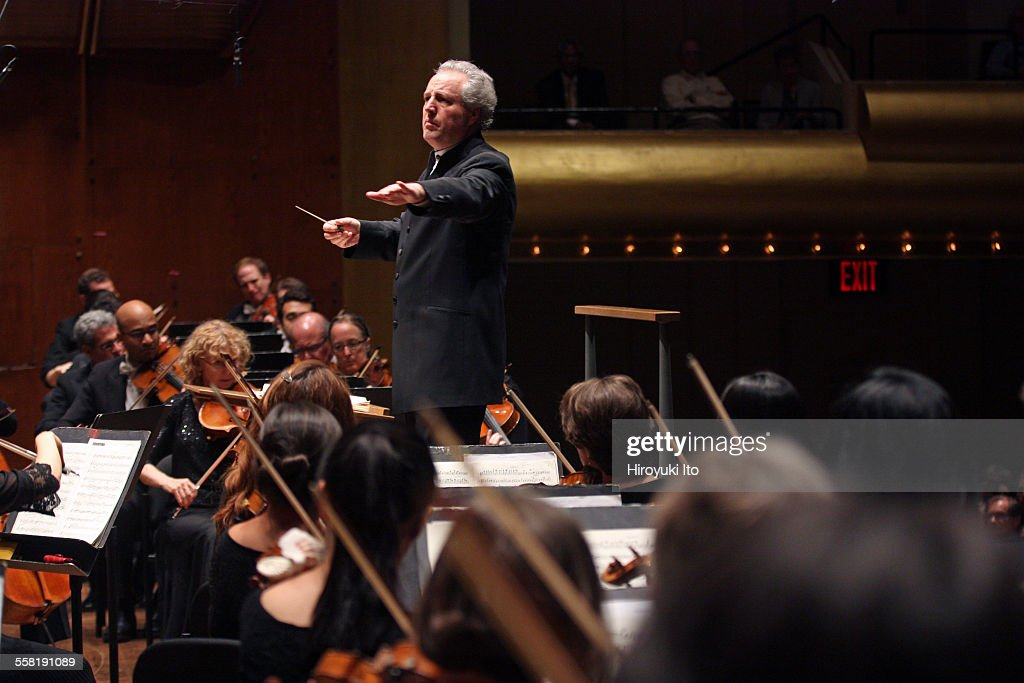 New York Philharmonic performing at Avery Fisher Hall on May 28 2015This imageManfred Honeck leading the New York Philharmonic in Brahms's 'Symphony...