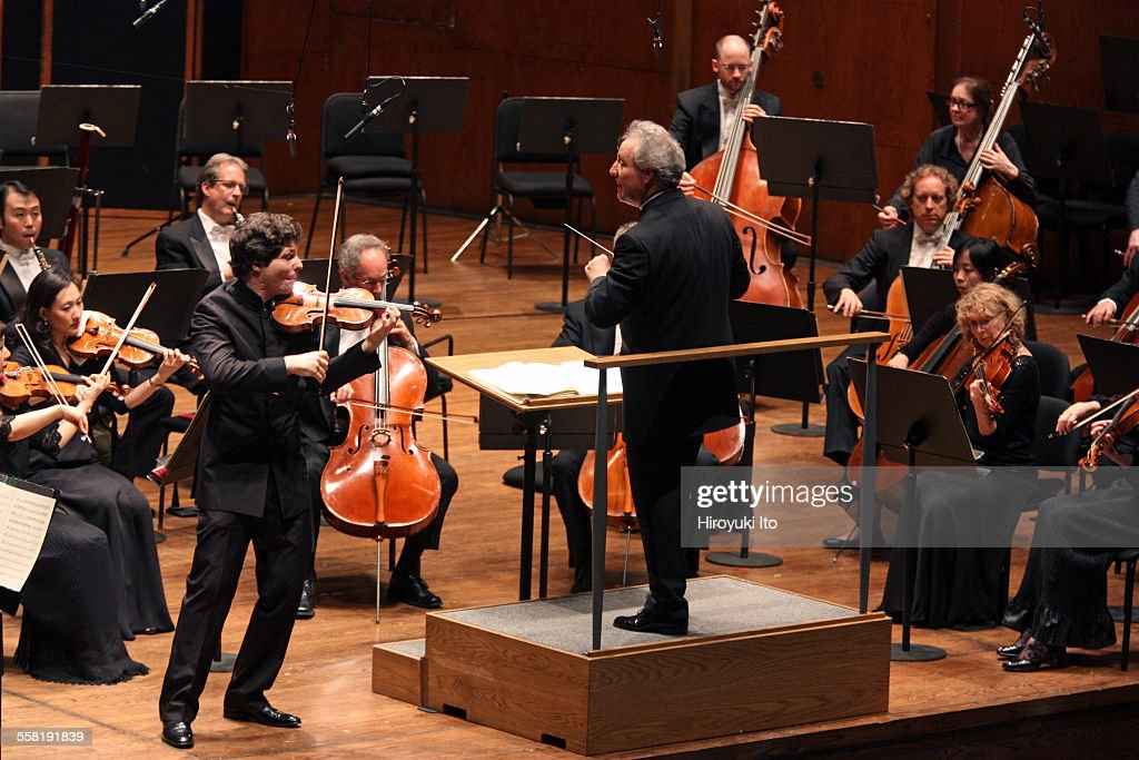 New York Philharmonic performing at Avery Fisher Hall on May 28 2015This imageAugustin Hadelich performing Mozart's 'Violin Concerto No 5' with the...