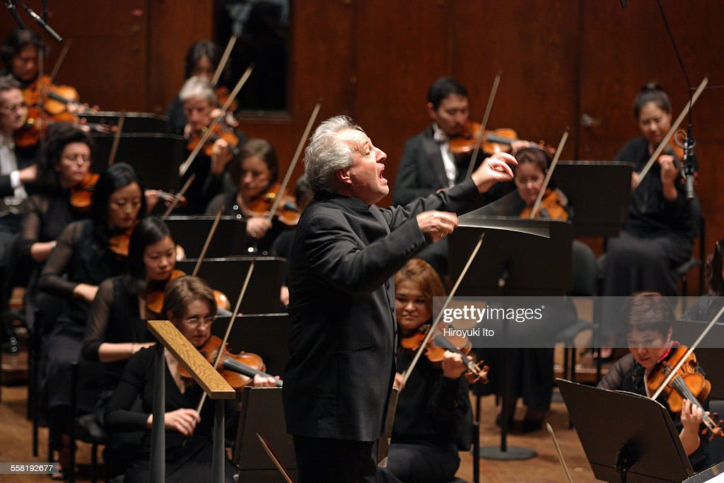 New York Philharmonic performing at Avery Fisher Hall on May 28 2015This imageManfred Honeck leading the New York Philharmonic in Strauss's Overture...