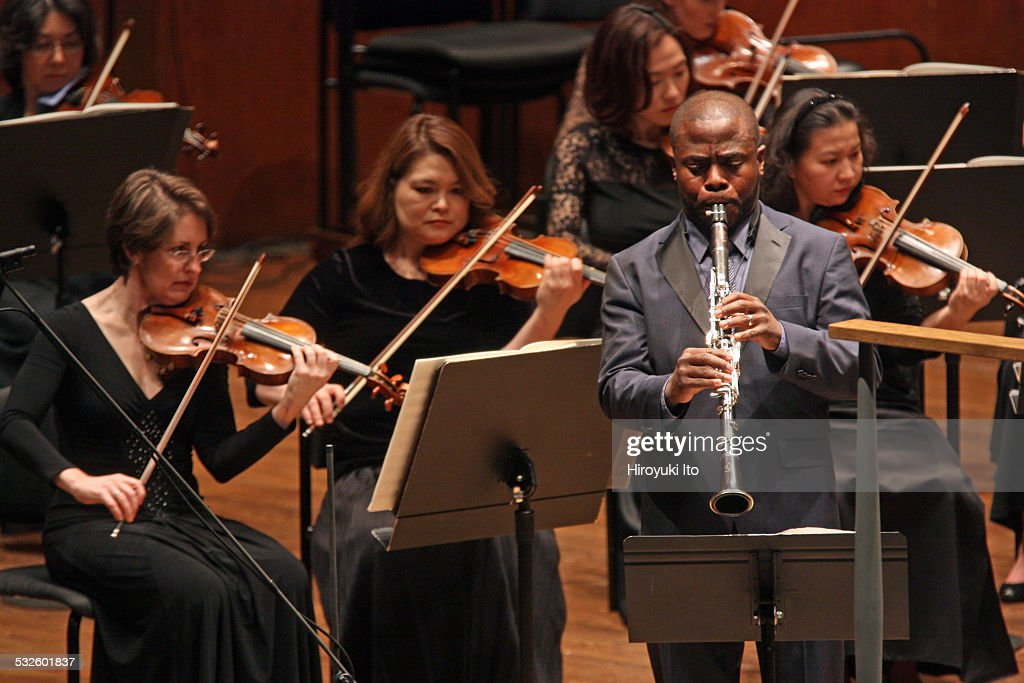 New York Philharmonic performing at Avery Fisher Hall on Thursday night January 8 2015This imageAnthony McGill performing Carl Nielsen's 'Concerto...