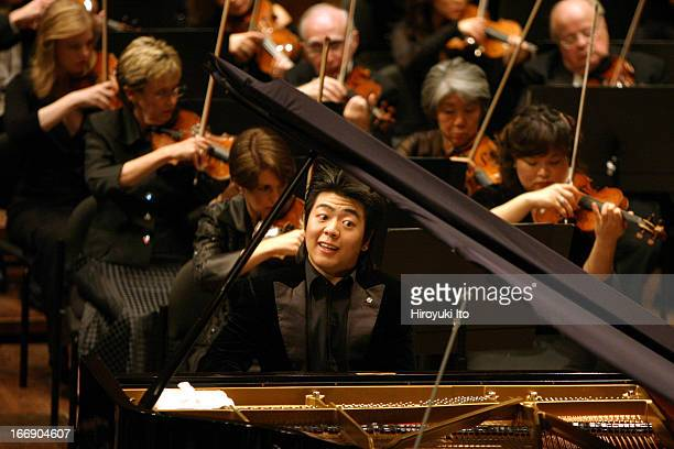 New York Philharmonic performing at Avery Fisher Hall on Thursday night September 22 2005This image Lang Lang plays piano in Chopin's 'Piano Concerto...