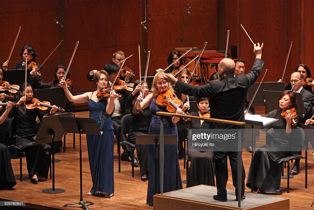 New York Philharmonic performing at Avery Fisher Hall on Thursday night November 20 2014This imageSheryl Staples left and Cynthia Phelps performing...