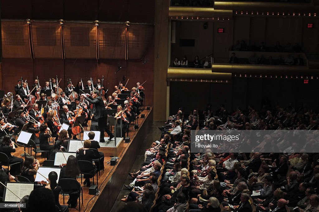 New York Philharmonic performing at Avery Fisher Hall on Tuesday night September 23 2014This imageAlan Gilbert leading the New York Philharmonic in...