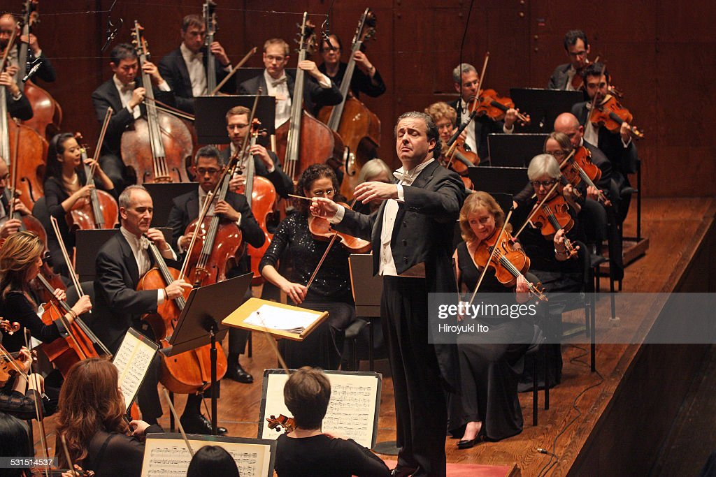 New York Philharmonic performing at Avery Fisher Hall on Tuesday night December 30 2014This imageJuanjo Mena leading the New York Philharmonic in the...
