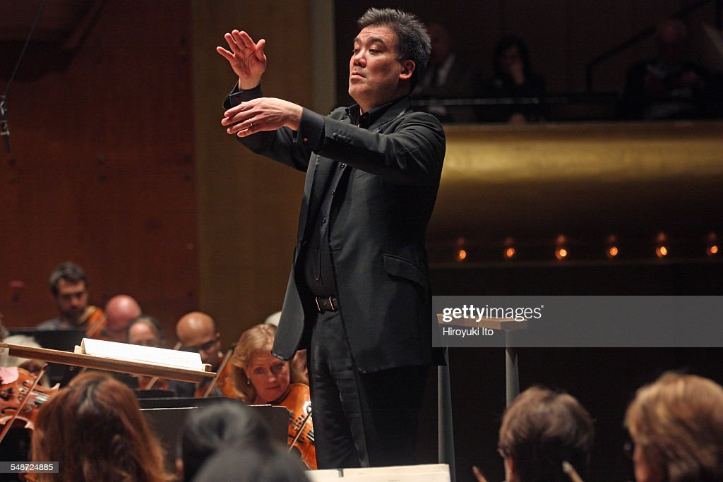 New York Philharmonic performing at Avery Fisher Hall on Wednesday night April 8 2015This imageAlan Gilbert leading the New York Philharmonic in...