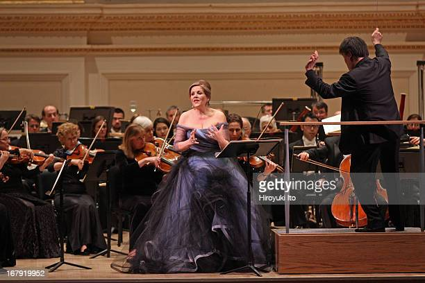 New York Philharmonic performing at Carnegie Hall on Friday night April 26 2013This imageRenee Fleming performing Anders Hillborg's 'The Strand...
