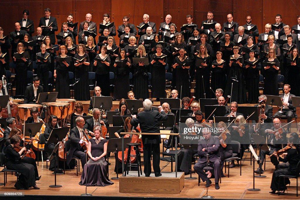 New York Philharmonic performing Brahms's 'A German Requiem' at David Geffen Hall on Thursday night March 3 2016This imageChristoph von Dohnanyi...