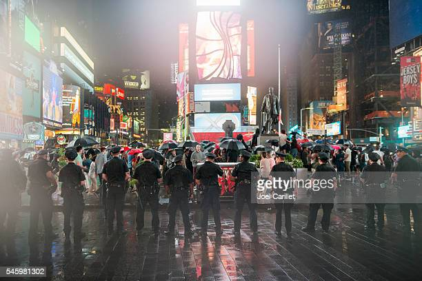 New York Police at Black Lives Matter protest
