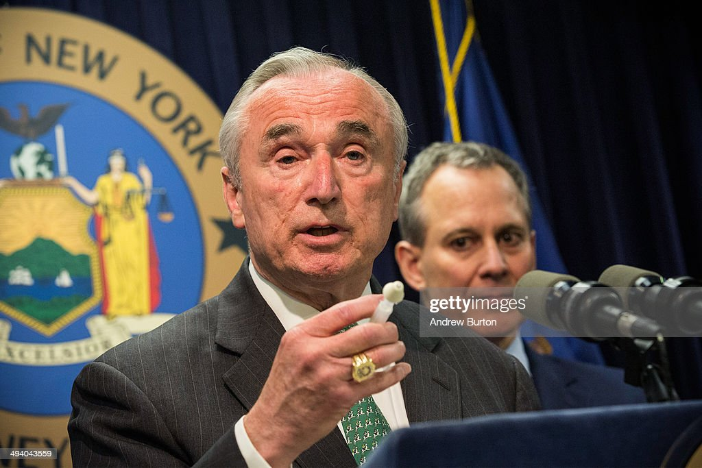 New York Police Commissioner Bill Bratton speaks at a press conference about a new community prevention program for heroin overdoses in which New York police officers will carry kits with Naloxone, an heroin antidote that can reverse the effects of an opioid overdose, on May 27, 2014 in New York City. The New York Police Department is being provided 19,500 kits for officers; the program will begin after officers receive training. The Naloxone is administered nasally.