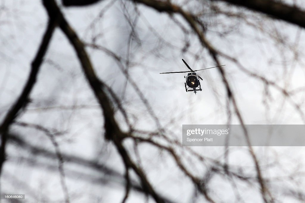 A New York Police Department helicopter participates in a flyover in honor of former New York City Mayor Ed Koch following funeral services at Manhattan's Temple Emanu-El on February 4, 2013 in New York City.The iconic former New York mayor passed away on February 1, 2013 in New York City at age 88. Ed Koch was New York's 105th mayor and ran the city from 1978-89. He was often outspoken and combative and has been credited with rescuing the city from near-financial ruin during a three-term City Hall run.
