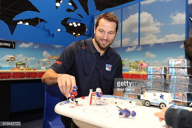New York Rangers Forward Rick Nash attends the PLAYMOBIL Booth At NY Toy Fair on February 15 2016 in New York City