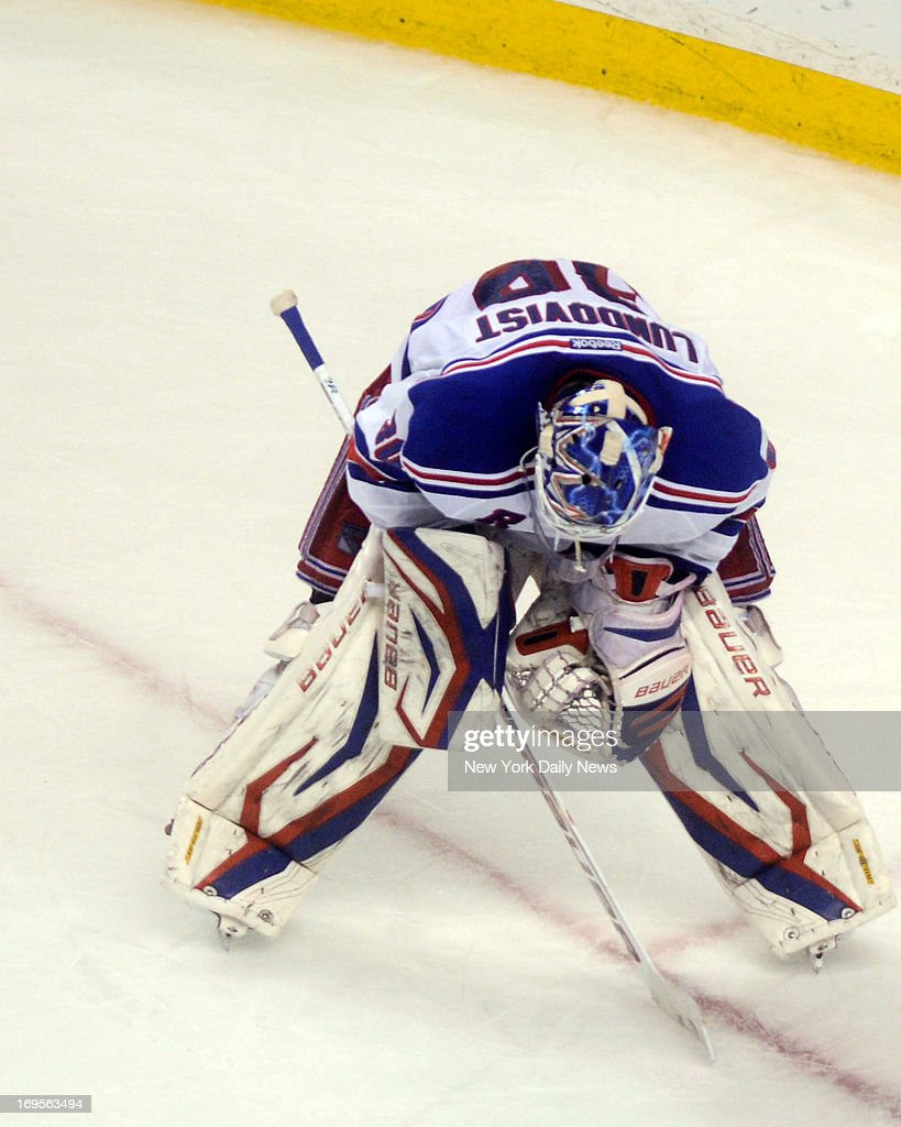 New York Rangers goalie Henrik Lundqvist (30) is dejected against the Boston Bruins during game 5 of the NHL playoff semi finals on Saturday May 25th, 2013