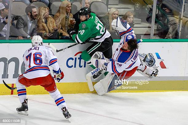 New York Rangers Goalie Henrik Lundqvist is knocked out of the game by Dallas Stars Center Cody Eakin during the NHL game between the New York...