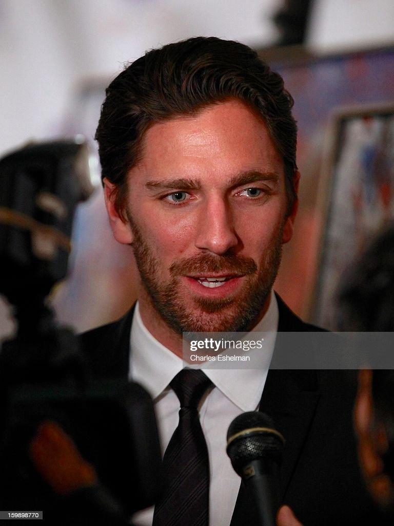 New York Rangers goaltender <a gi-track='captionPersonalityLinkClicked' href=/galleries/search?phrase=Henrik+Lundqvist&family=editorial&specificpeople=217958 ng-click='$event.stopPropagation()'>Henrik Lundqvist</a> attends the Garden of Dreams Foundation press conference at Madison Square Garden on January 22, 2013 in New York City.