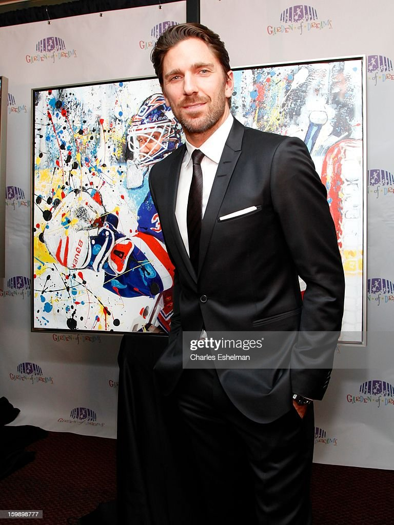 New York Rangers goaltender Henrik Lundqvist attends the Garden of Dreams Foundation press conference at Madison Square Garden on January 22, 2013 in New York City.