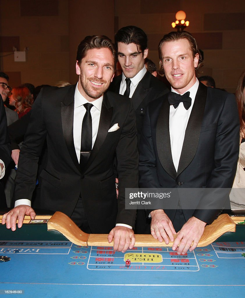 New York Rangers <a gi-track='captionPersonalityLinkClicked' href=/galleries/search?phrase=Henrik+Lundqvist&family=editorial&specificpeople=217958 ng-click='$event.stopPropagation()'>Henrik Lundqvist</a> and <a gi-track='captionPersonalityLinkClicked' href=/galleries/search?phrase=Brad+Richards&family=editorial&specificpeople=202622 ng-click='$event.stopPropagation()'>Brad Richards</a> attends the 2013 New York Rangers Casino Night at Gotham Hall on March 1, 2013 in New York City.