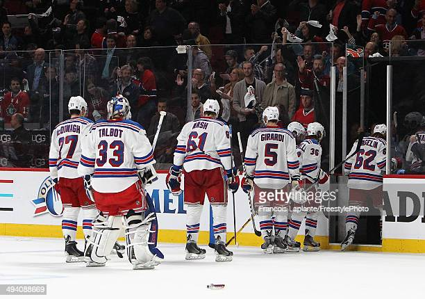 New York Rangers leave the ice after loosing to the Montreal Canadiens during Game Five of the Eastern Conference Final in the 2014 NHL Stanley Cup...