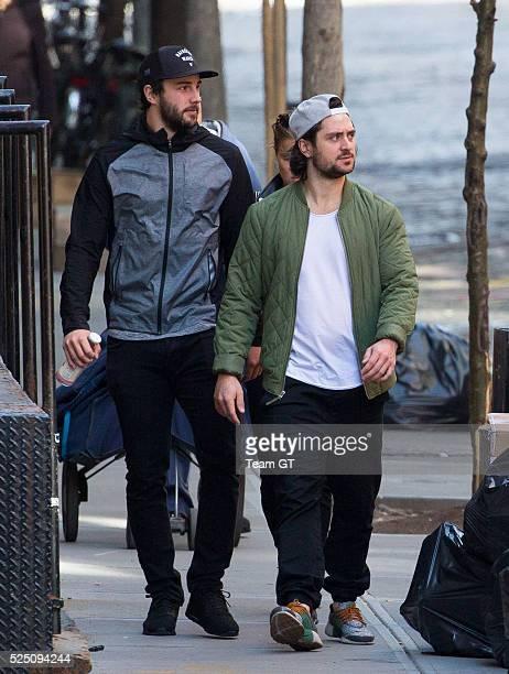 New York Rangers palyer Derick Brassard and Mats Zuccarello seen on April 27 2016 in New York City